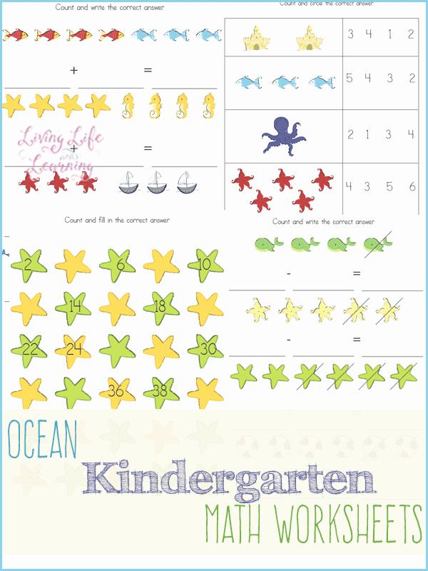 Kindergarten Ocean Worksheets Free Ocean Kindergarten Math Worksheets