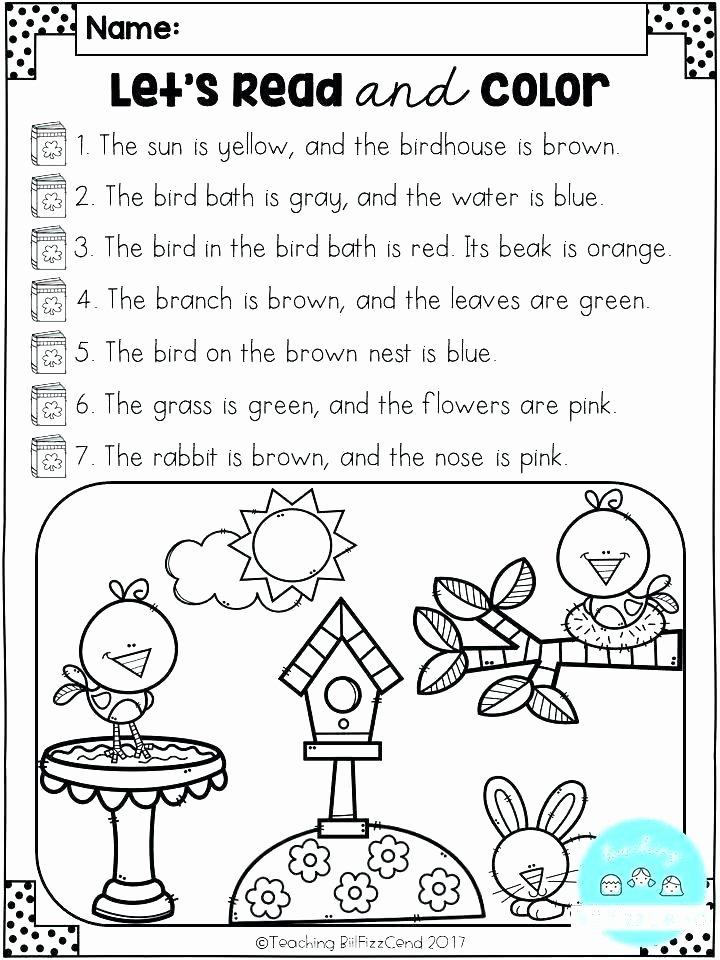 Kindergarten Ocean Worksheets Listening Worksheets for Kindergarten Ocean Animals