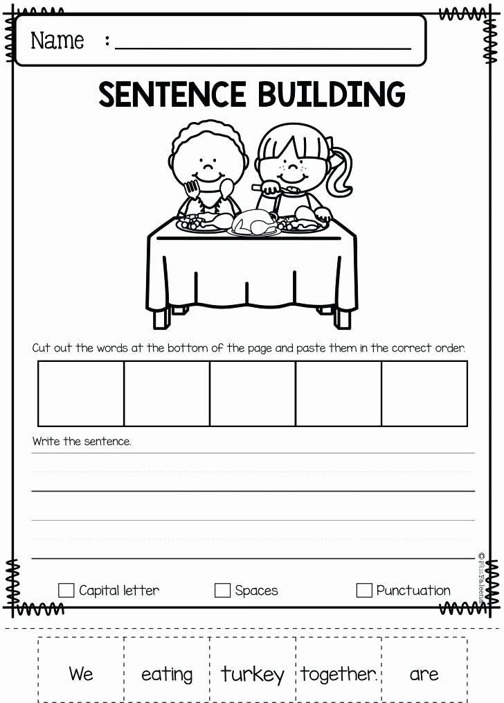 Kindergarten Ocean Worksheets November Math Worksheets Free Super Luxury Sentence Building