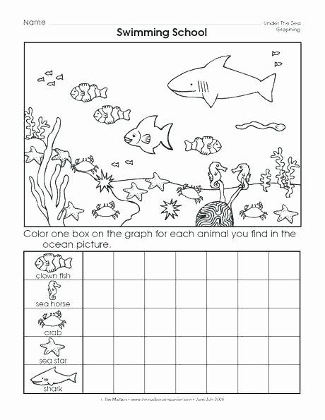Kindergarten Ocean Worksheets Printable Graphing Worksheets for Kindergarten Degree Free Math