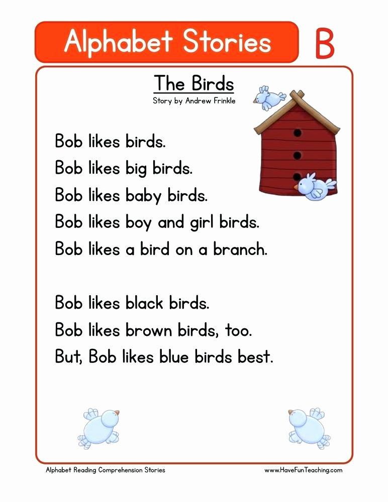 Kindergarten Reading Comprehension Worksheets Pdf Kindergarten Reading Prehension Worksheets Passages Pdf