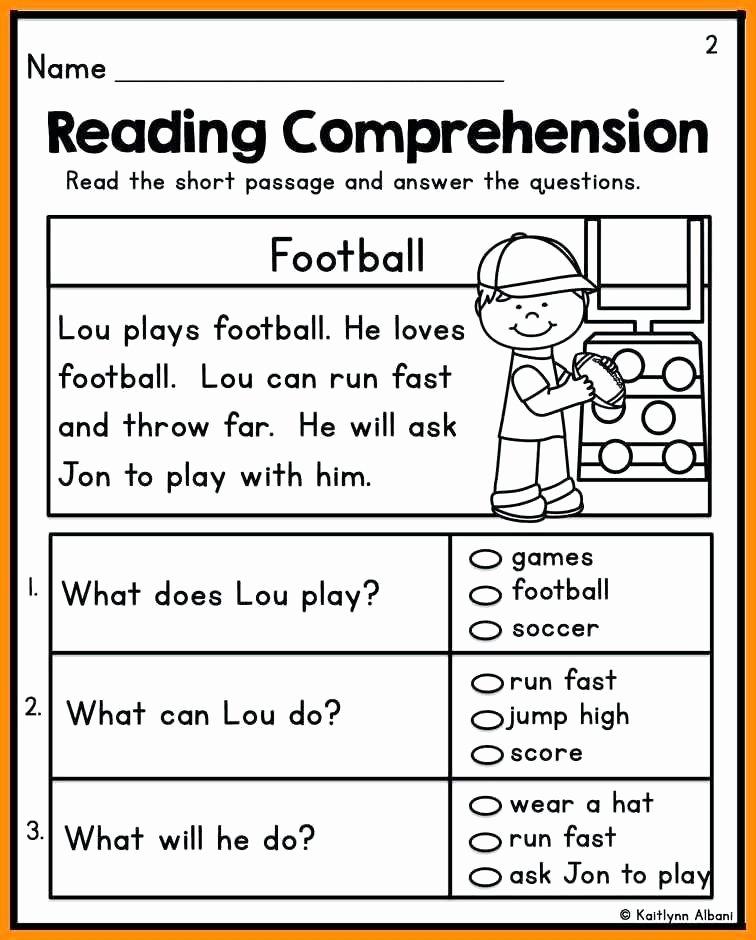 Kindergarten Reading Comprehension Worksheets Pdf Kindergarten Reading Skills Worksheets Read and Sequence