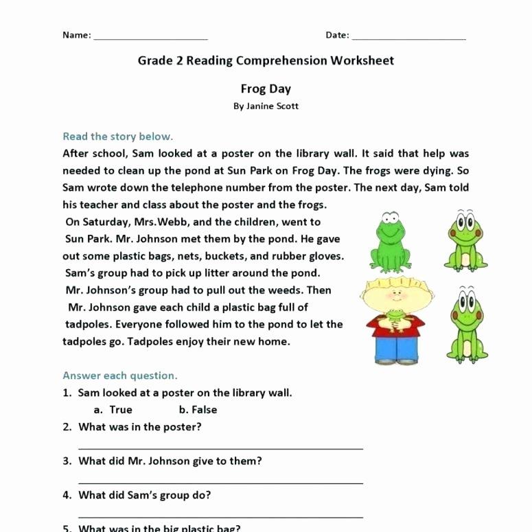 Kindergarten Reading Comprehension Worksheets Pdf Reading Prehension Worksheets Elementary