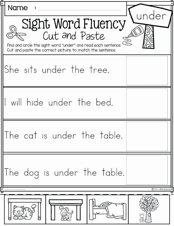 Kindergarten Reading Worksheets Sight Words 3 Letter Words Worksheets Pdf 3 Letter Words Reading
