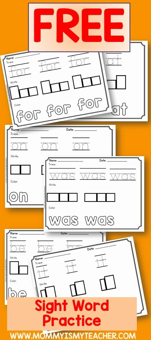 Kindergarten Reading Worksheets Sight Words I Just Printed Free Sight Word Worksheets for My Homeschool