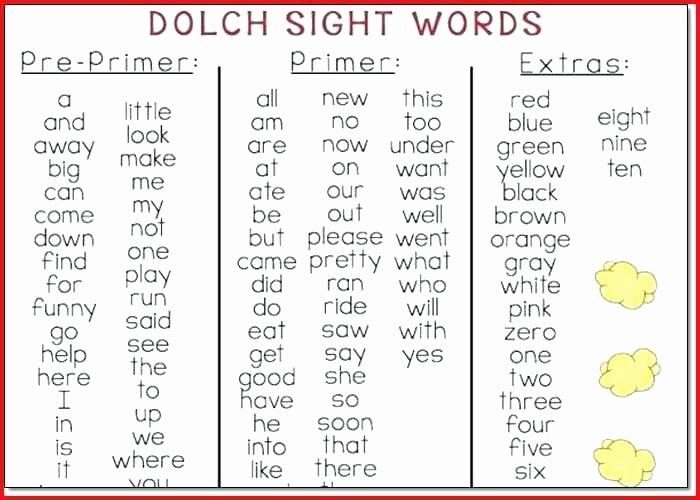Kindergarten Reading Worksheets Sight Words Sight Words for Kindergarten Worksheets Sight Words for