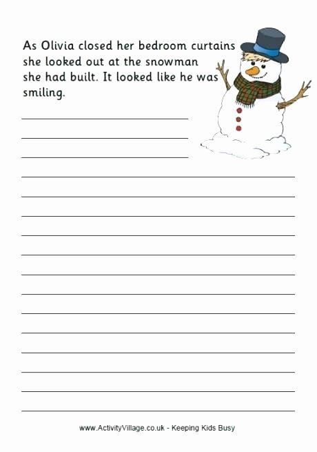 Kindergarten Sentence Starters Beautiful Story Starters In Writing Template for Kids Literals
