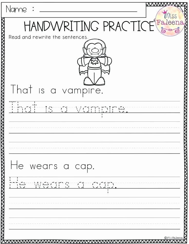 Kindergarten Sentence Writing Practice Worksheets Read Trace Write Worksheets