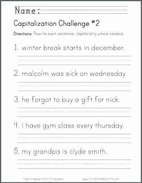 Kindergarten Sentence Writing Practice Worksheets Winter Writing Worksheets Winter Writing Worksheets for