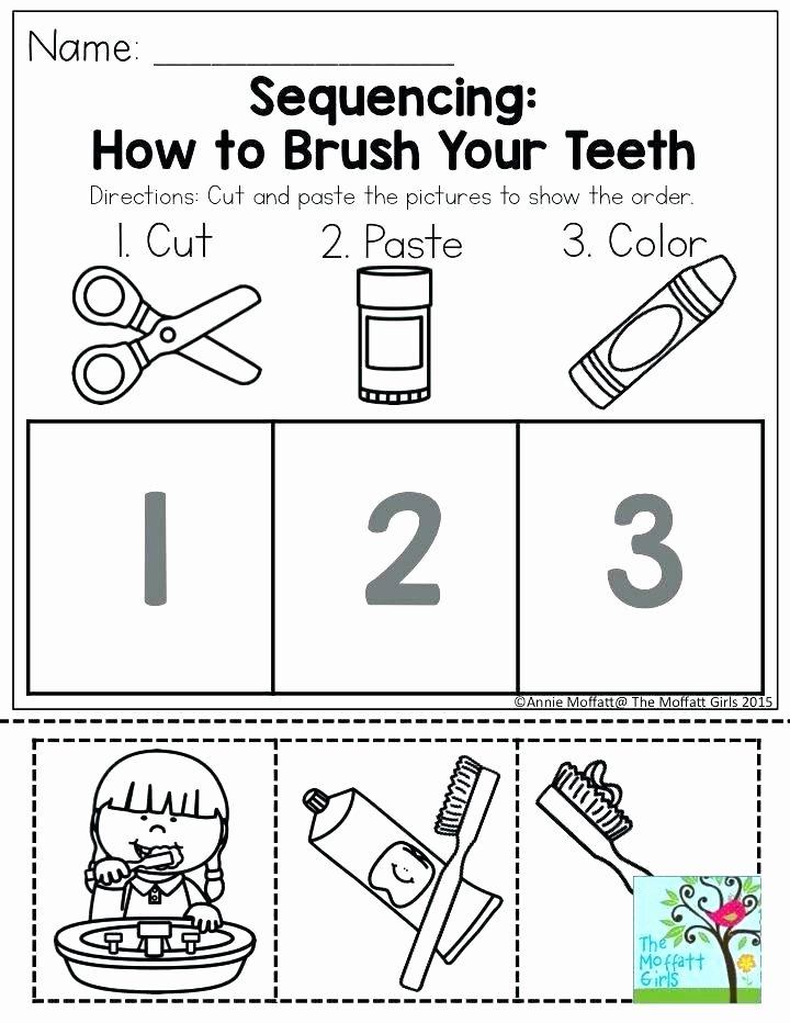 Kindergarten Sequence Worksheets Free Printable Personal Hygiene Worksheets Inspirational