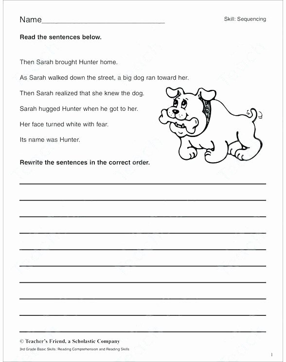 Kindergarten Sequence Worksheets Reading Prehension Sequencing Worksheets Grade Math