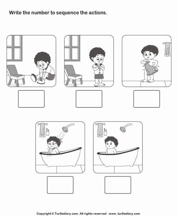 Kindergarten Sequencing Worksheet Irma Rich Richirma On Pinterest