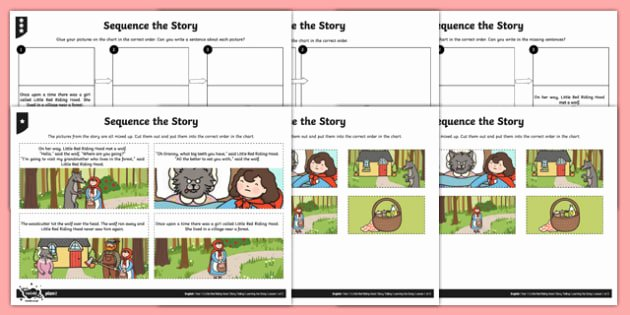 Kindergarten Sequencing Worksheet Little Red Riding Hood Sequence the Story Worksheet