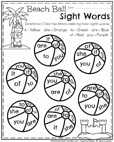 Kindergarten Sight Word Coloring Worksheets 2nd Grade Sight Words Printable Worksheets Sight Word