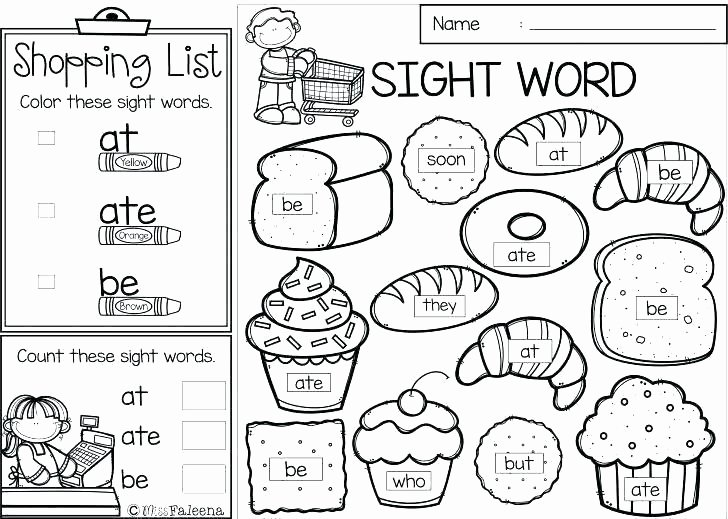Kindergarten Sight Word Coloring Worksheets Sight Word Coloring Pages Kindergarten – Campradio