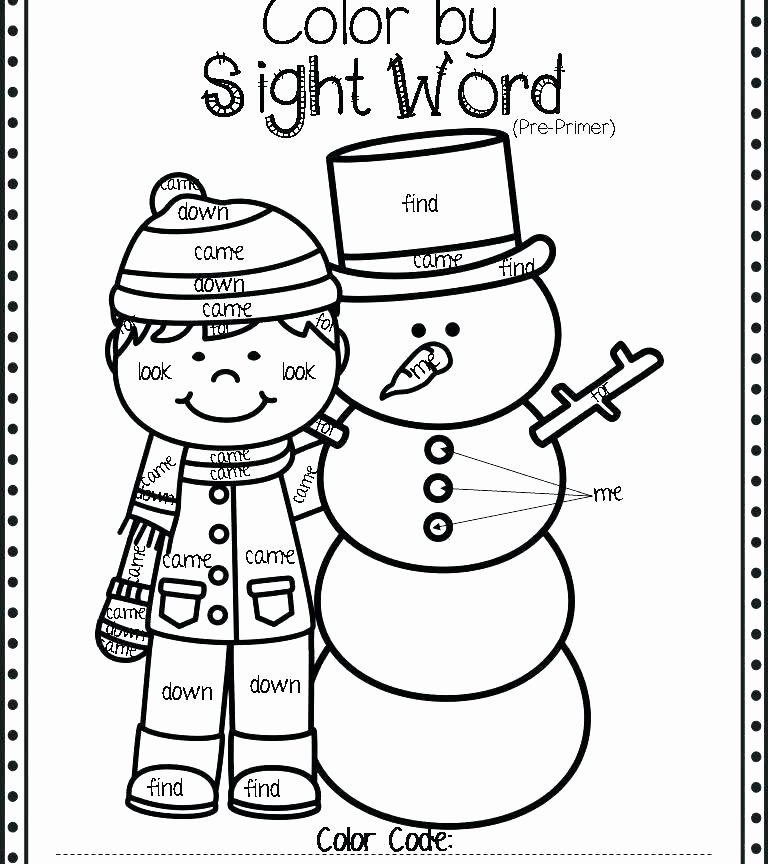 Kindergarten Sight Word Coloring Worksheets Sight Word Coloring Worksheets – Vudfiullfo