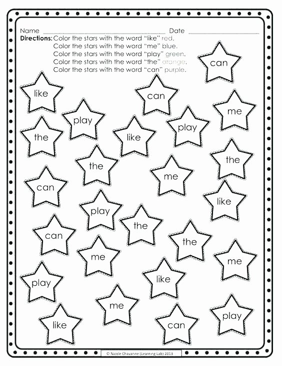 Kindergarten Sight Words Worksheet Free Preschool Sight Words Worksheets – butterbeebetty