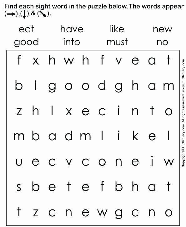 Kindergarten Sight Words Worksheet Free Sight Word Coloring Kindergarten – Lifewiththepeppers