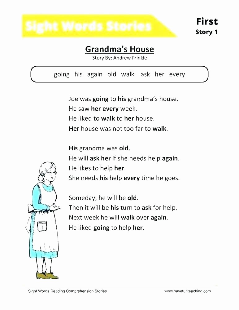 Kindergarten Sight Words Worksheet Free Sight Word Sentences Worksheets