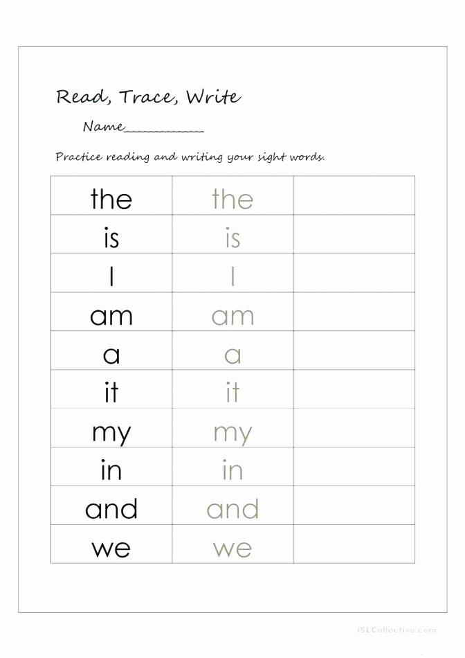 Kindergarten Sight Words Worksheets Pdf Awesome Word Worksheets for Grade Sight It Printable Kindergarten