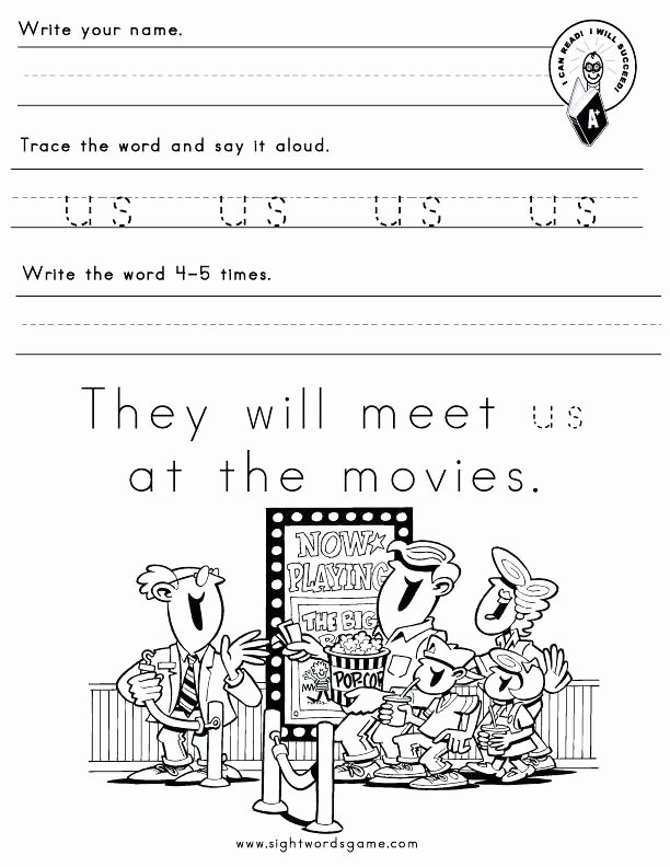 Kindergarten Sight Words Worksheets Pdf Beautiful Us Word Family Sight Words Reading Writing Spelling