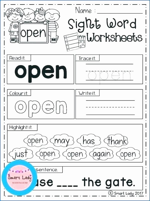 Kindergarten Sight Words Worksheets Pdf Lovely Kinder Site Words First Grade Si Kindergarten Tracing