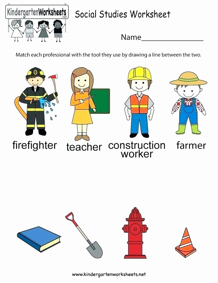 Kindergarten social Studies Worksheets Reading social Stu S Worksheets