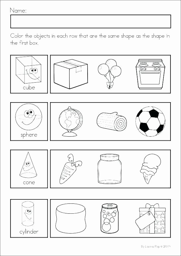 Kindergarten sorting Worksheets Shapes Kindergarten Worksheets – Sunriseengineers