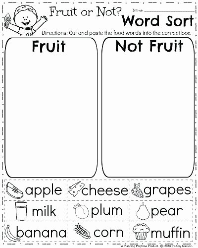 Kindergarten sorting Worksheets Worksheets for Medium to Size sorting Math Pre