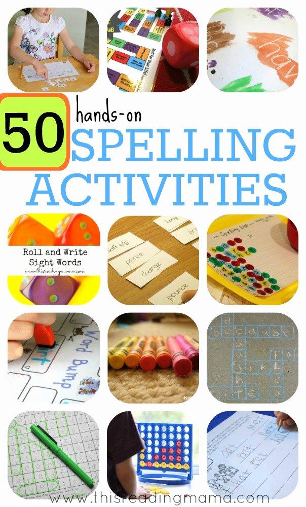 Kindergarten Spelling Words Printable Luxury 50 Hands Spelling Activities for Phonics and Sight Words
