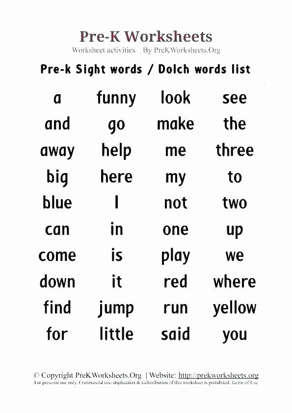 Kindergarten Spelling Words Printable Unique Kindergarten Words Worksheets – Openlayers