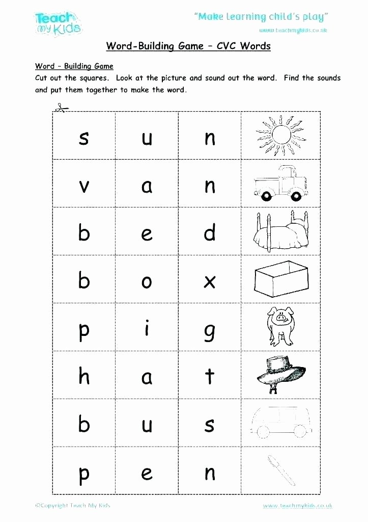 Kindergarten Spelling Worksheets 45 Kindergarten Spelling Words