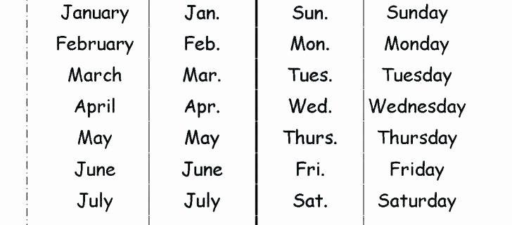 Kindergarten Spelling Worksheets Kinder Spelling Worksheets Days the Week Preschool for