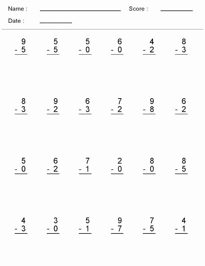 Kindergarten Subtraction Worksheets Free Printable Mental Math Worksheets Free Addition and Subtraction Adding
