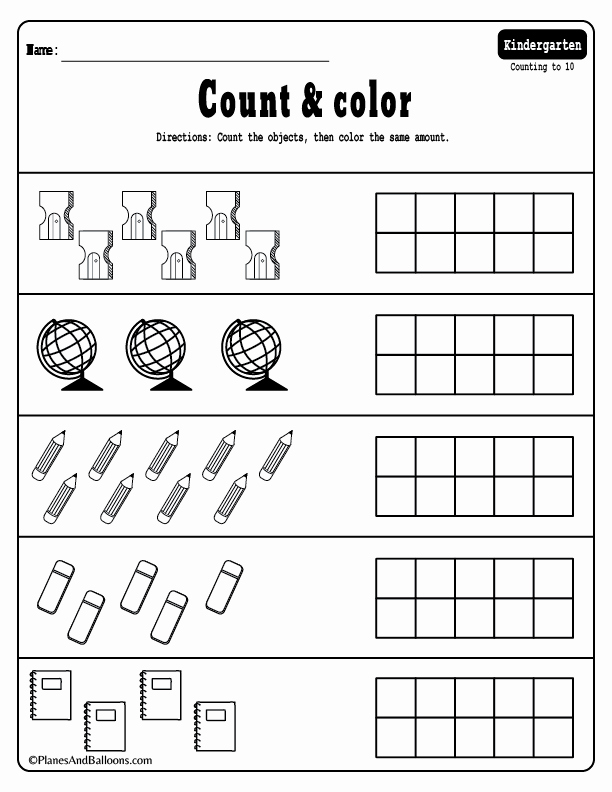 Kindergarten Tally Mark Worksheets 15 Kindergarten Math Worksheets Pdf Files to for