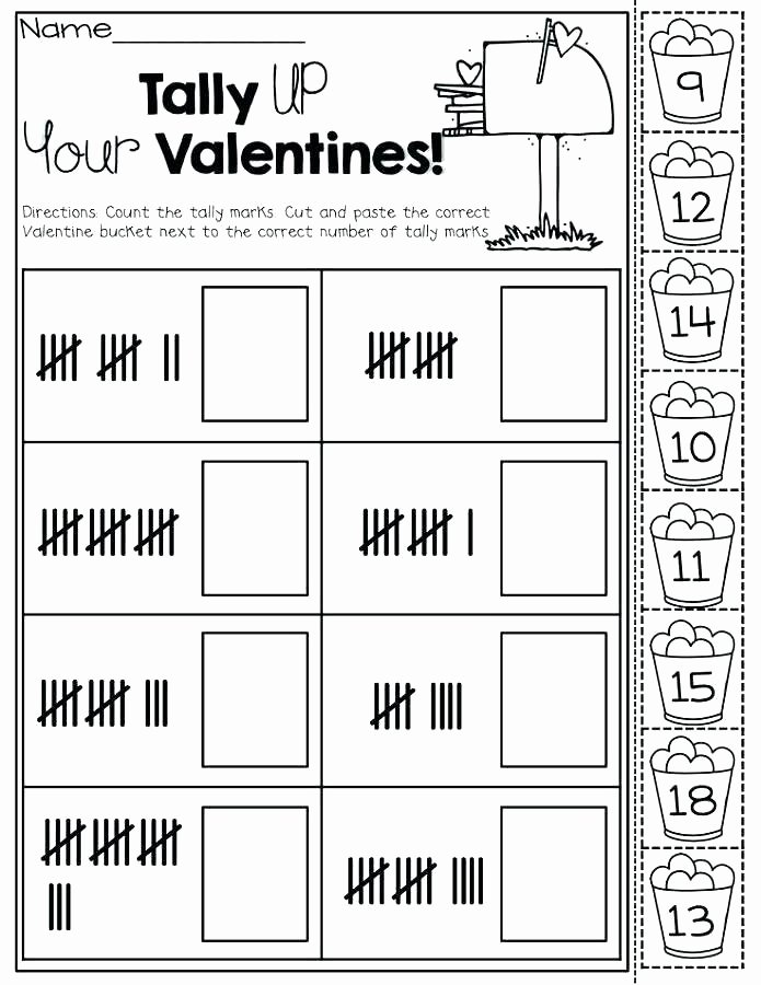 Kindergarten Tally Mark Worksheets Bar Graph Worksheets 1st Grade