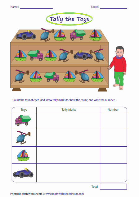 Kindergarten Tally Mark Worksheets Preschool Worksheets Categories