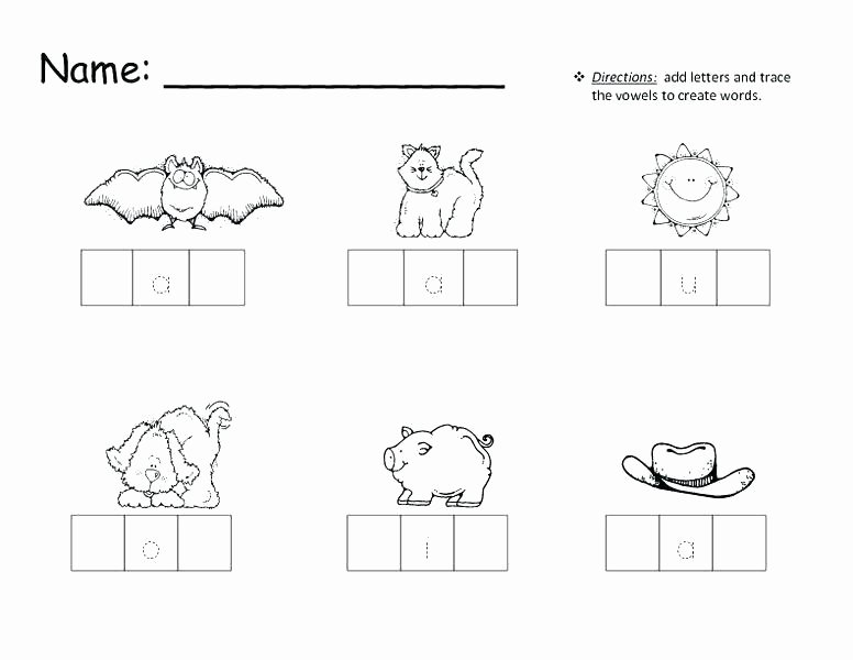 Kindergarten Three Letter Words Worksheets Two Letter Words Worksheets