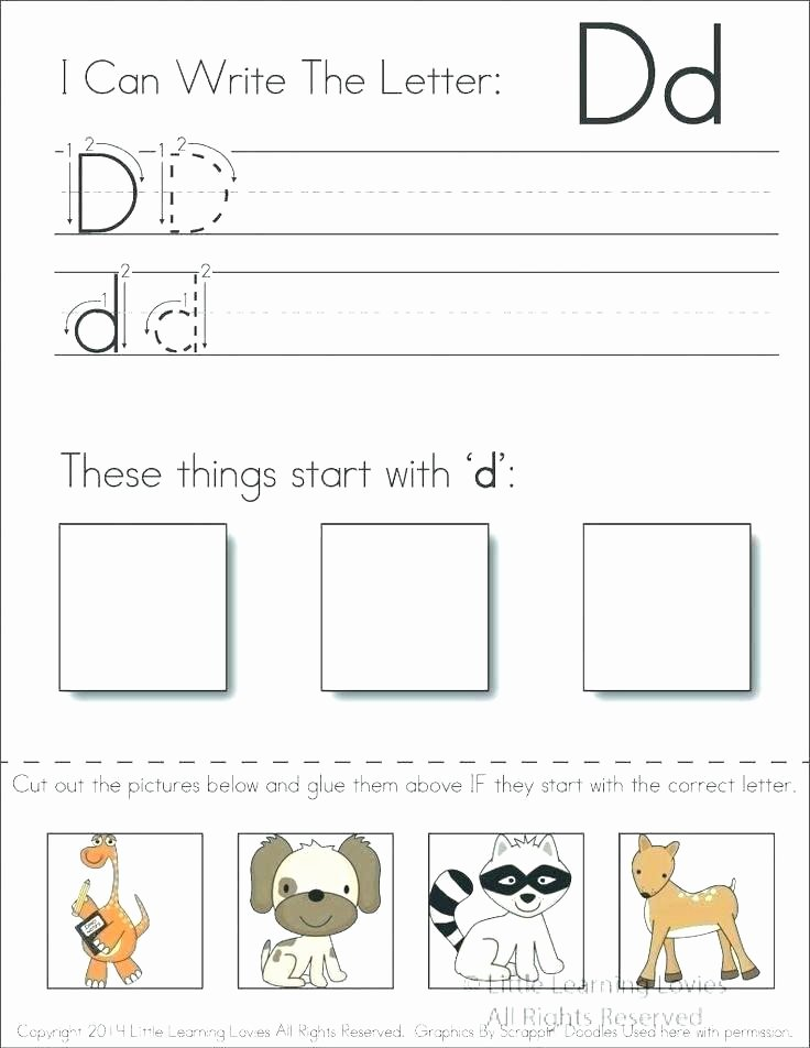 Kindergarten Worksheets Cut and Paste Letter K Cut and Paste Worksheets