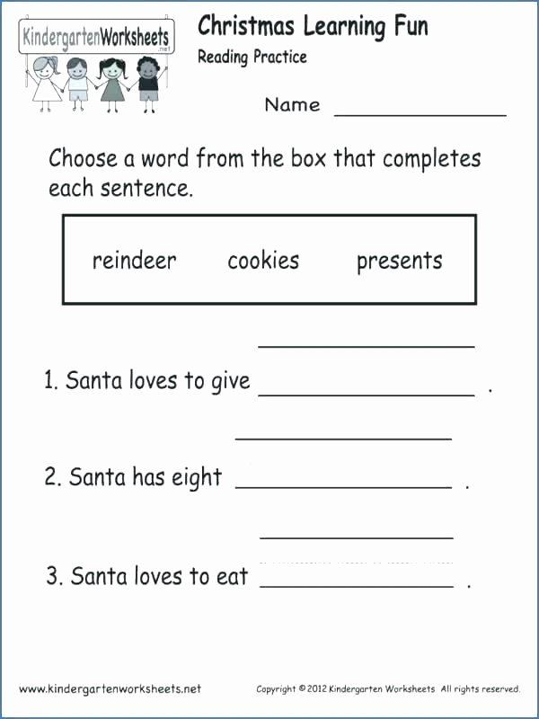 Kindergarten Worksheets Reading Comprehension First Grade Worksheets Reading Prehension