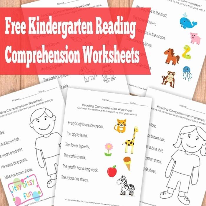 Kindergarten Worksheets Reading Comprehension Kindergarten Reading Prehension Worksheets