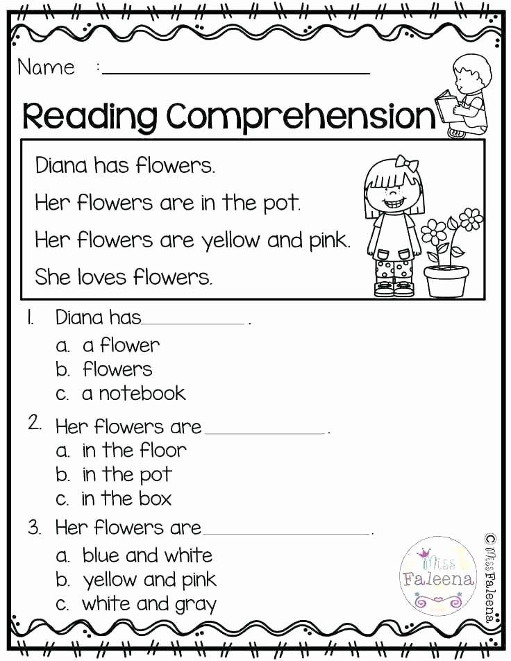Kindergarten Worksheets Reading Comprehension Kindergarten Reading Printable Worksheets