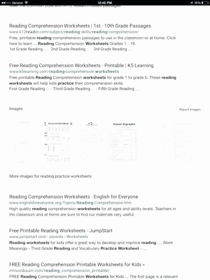 Kindergarten Worksheets Reading Comprehension Reading Worksheets
