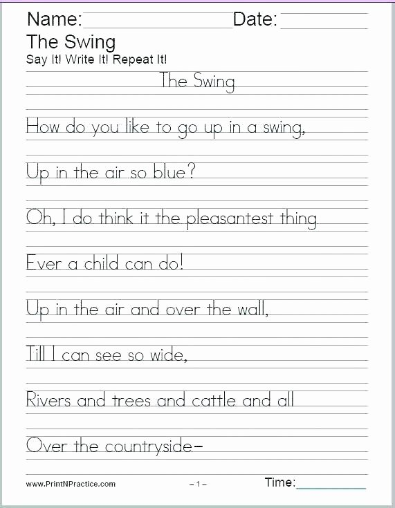 cursive writing sentences worksheets printable handwriting sheets manuscript free