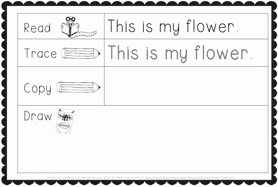 Kindergarten Writing Sentences Worksheets Free Printable Sentence Writing Worksheets Sentences for
