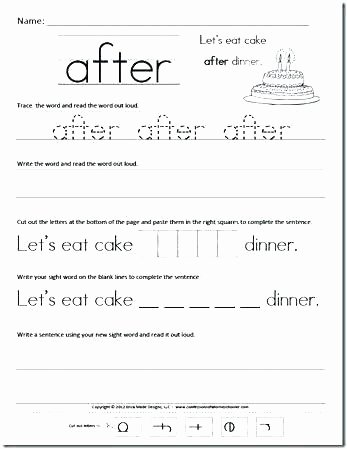 Kindergarten Writing Sentences Worksheets Sentence Handwriting Worksheets