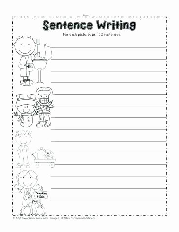 Kindergarten Writing Sentences Worksheets Sentence Writing Worksheets for First Grade – Katyphotoart