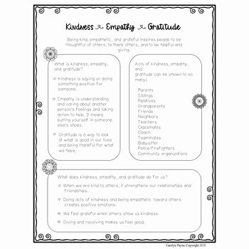 Kindness Worksheets for Elementary Students Best Of Kindness Empathy and Gratitude Activities