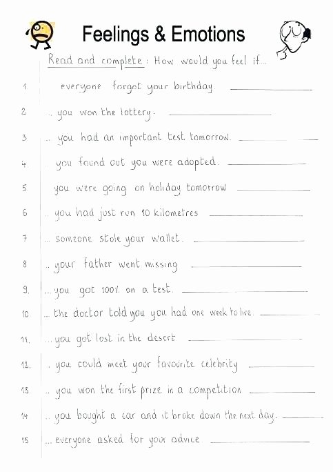Kindness Worksheets for Elementary Students Fresh Feelings Worksheets for Kindergarten Full Size Worksheet