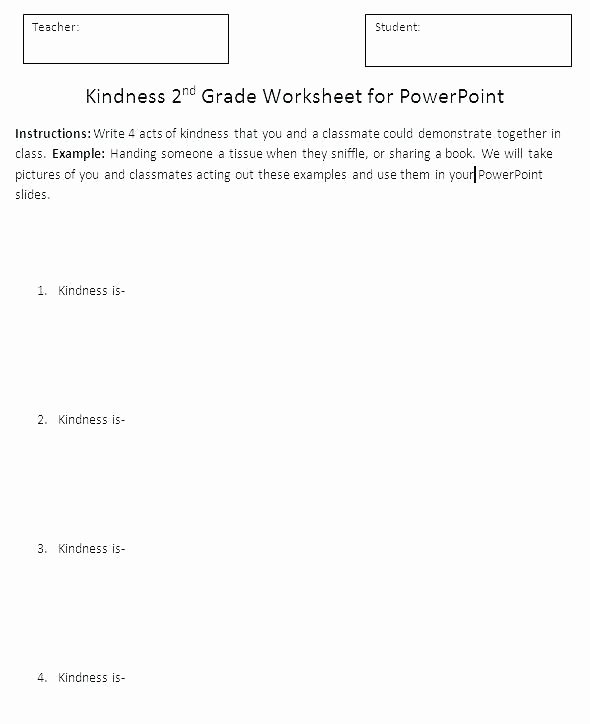 Kindness Worksheets for Elementary Students Inspirational Printable Worksheets for First Grade 1 Technology Kids Happy